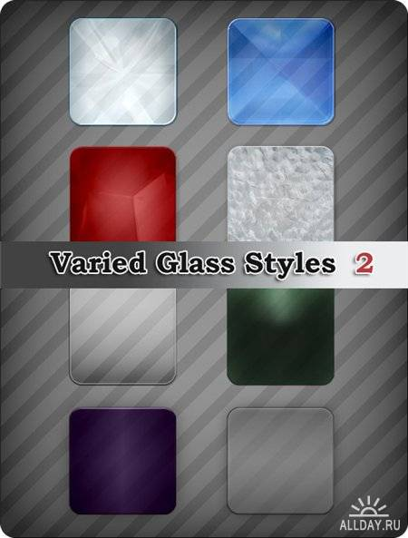 Стиль для Photoshop - Varied Glass Styles 2