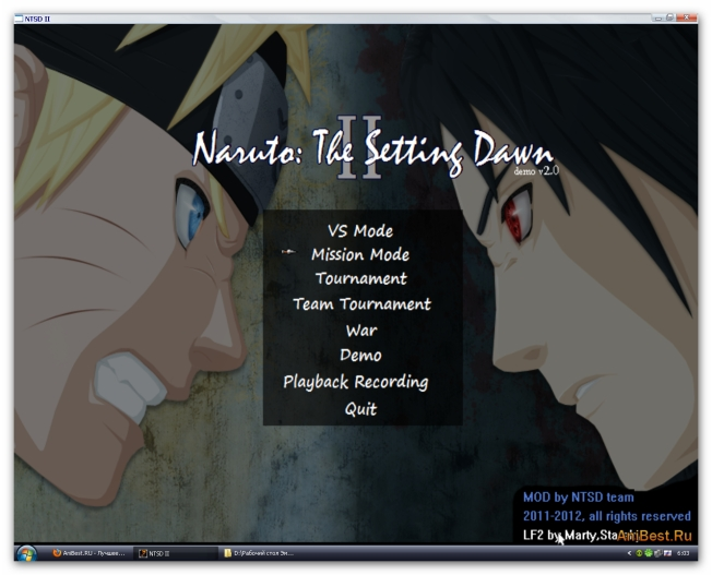 NTSD II test 2 / NTSD II Demo #2 / Naruto: The Setting Down II test 2
